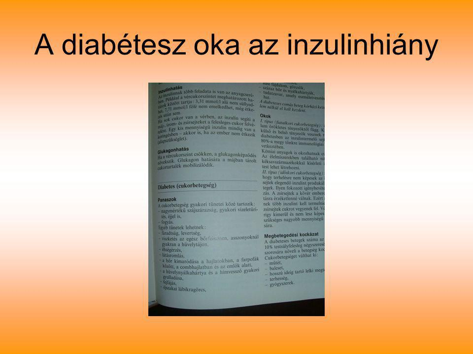 A diabétesz oka az inzulinhiány