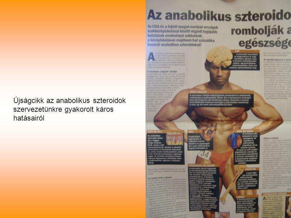 Újságcikk az anabolikus szteroidok