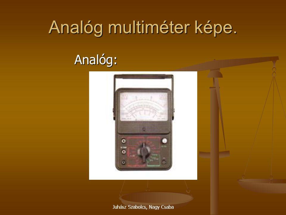 Analóg multiméter képe.