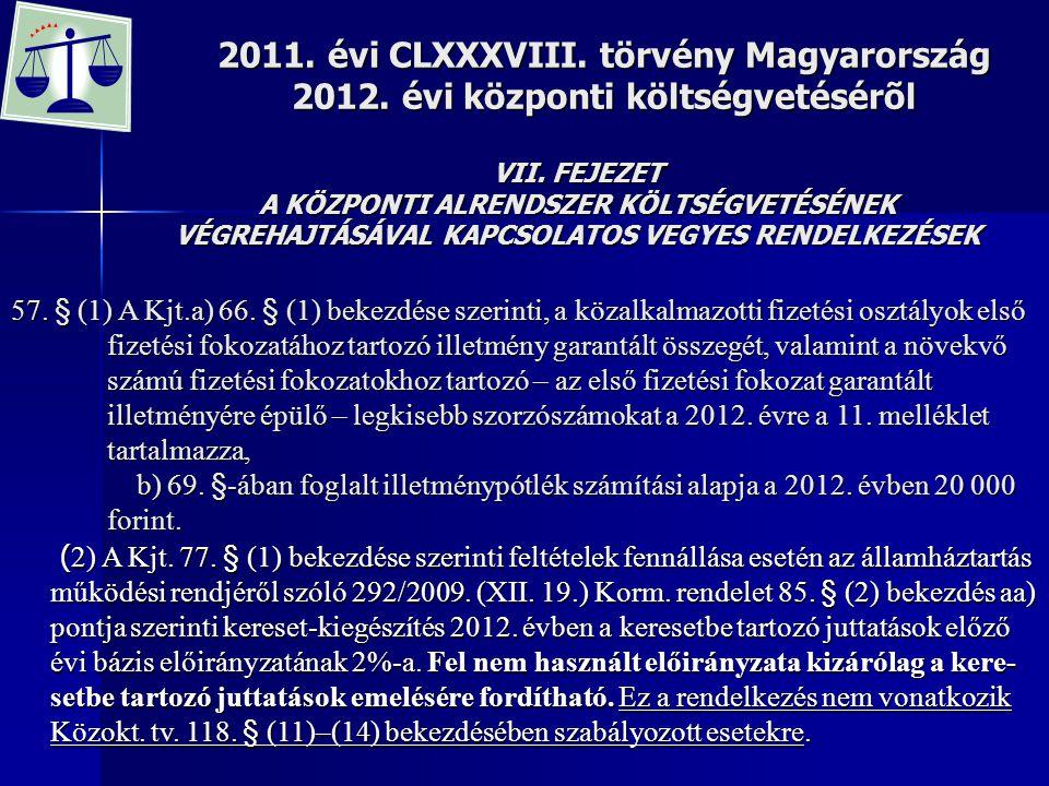 2011. évi CLXXXVIII. törvény Magyarország 2012