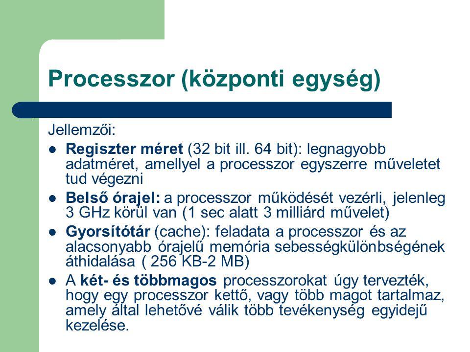 Processzor (központi egység)
