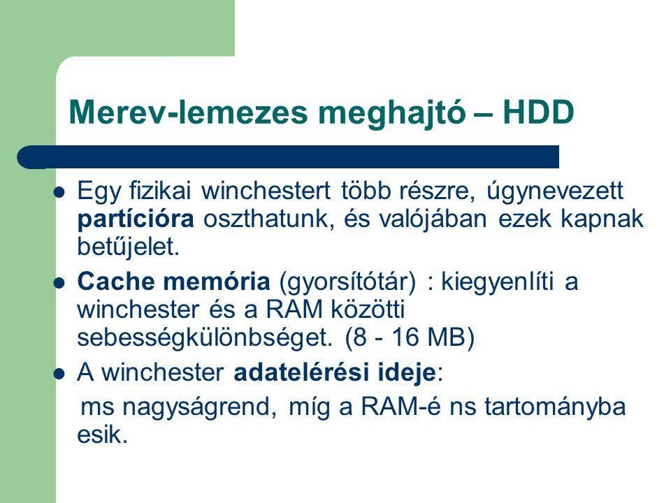 Merev-lemezes meghajtó – HDD