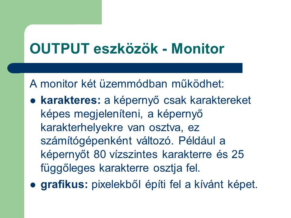 OUTPUT eszközök - Monitor