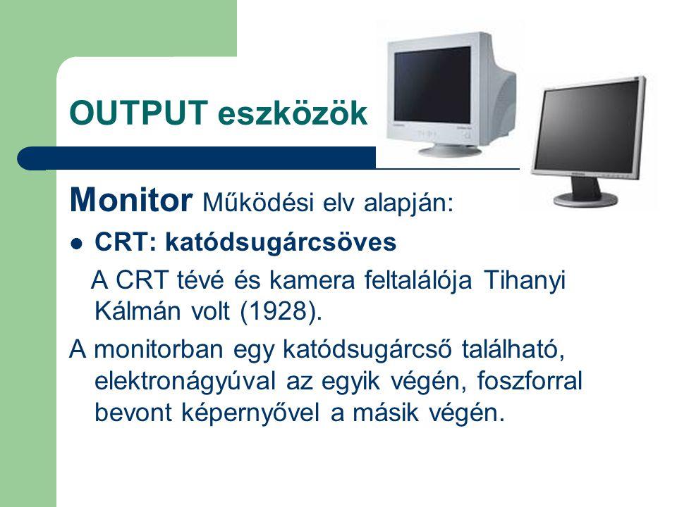 Monitor Működési elv alapján: