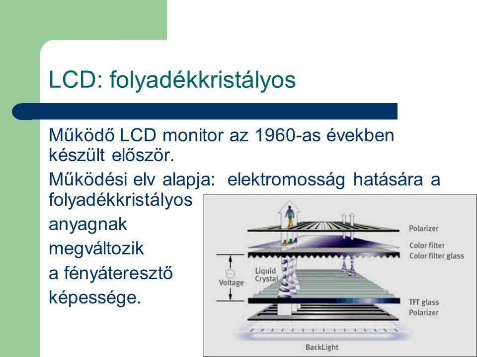 LCD: folyadékkristályos