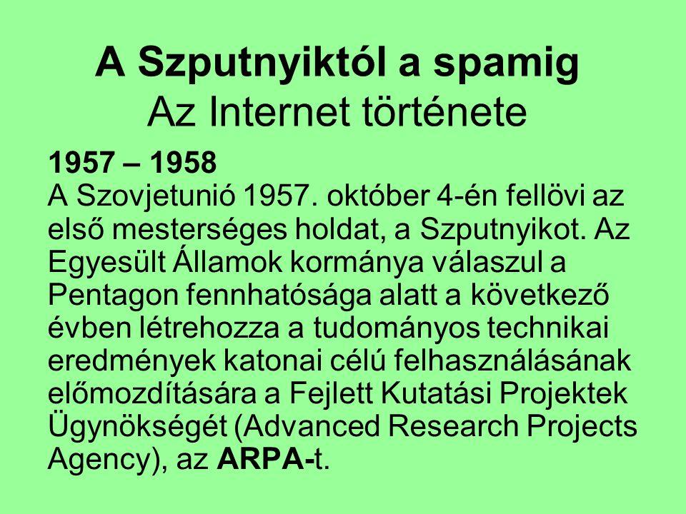 A Szputnyiktól a spamig Az Internet története