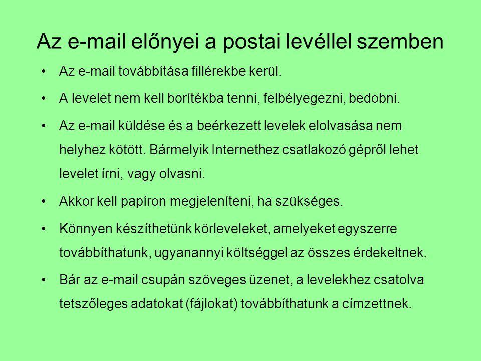 Az e-mail előnyei a postai levéllel szemben