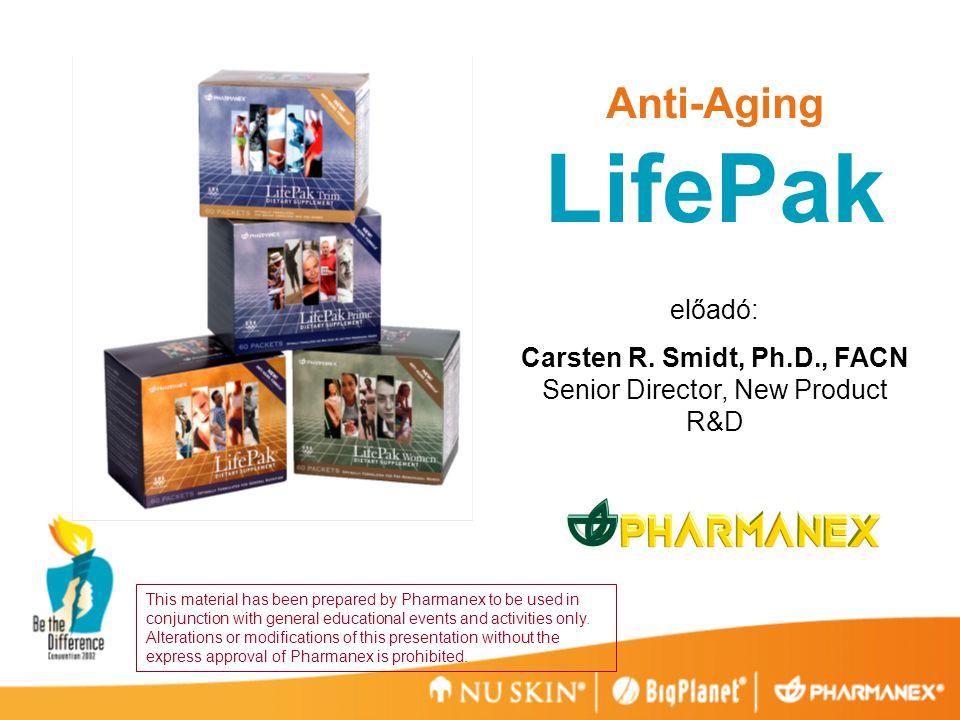 LifePak Anti-Aging előadó: Carsten R. Smidt, Ph.D., FACN