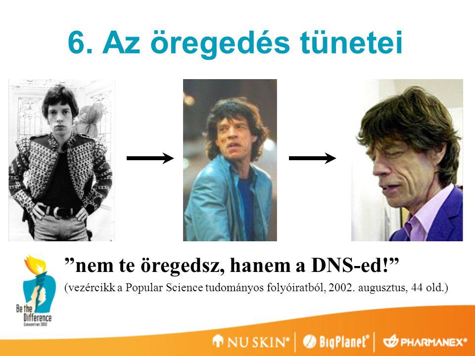 6. Az öregedés tünetei nem te öregedsz, hanem a DNS-ed!
