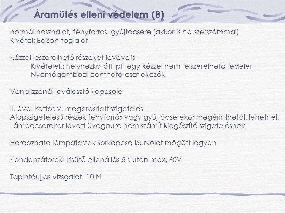 Áramütés elleni védelem (8)
