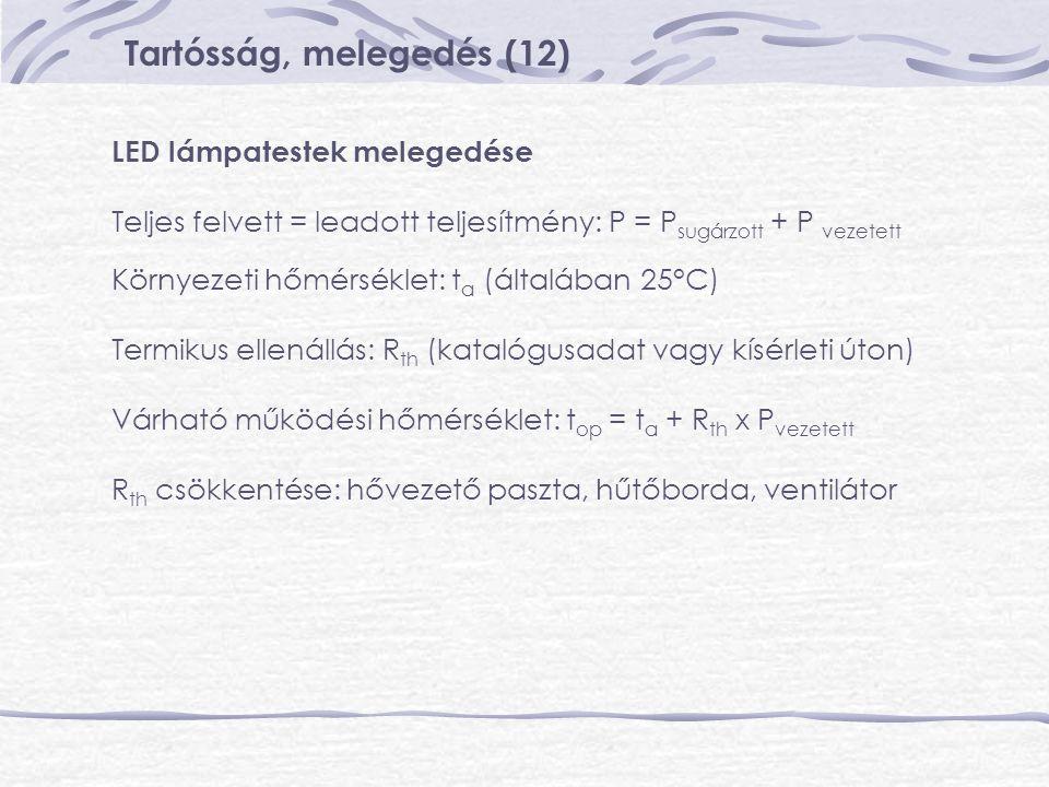 Tartósság, melegedés (12)