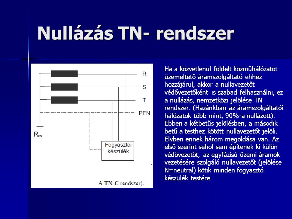 Nullázás TN- rendszer
