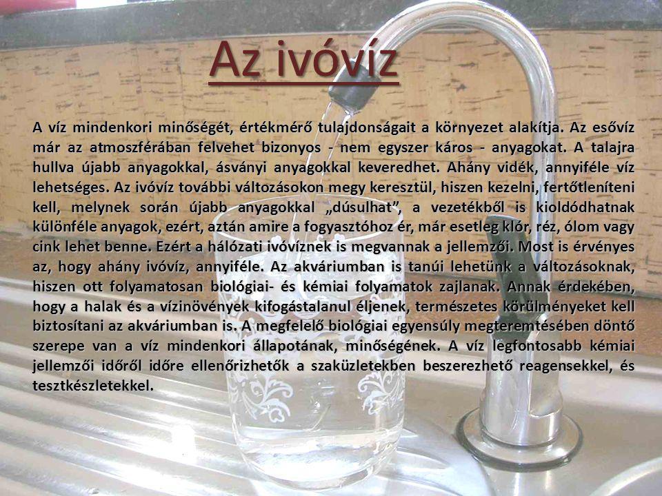 Az ivóvíz