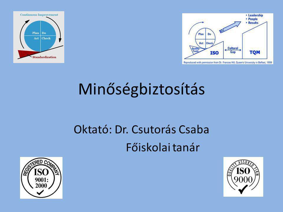 Oktató: Dr. Csutorás Csaba Főiskolai tanár
