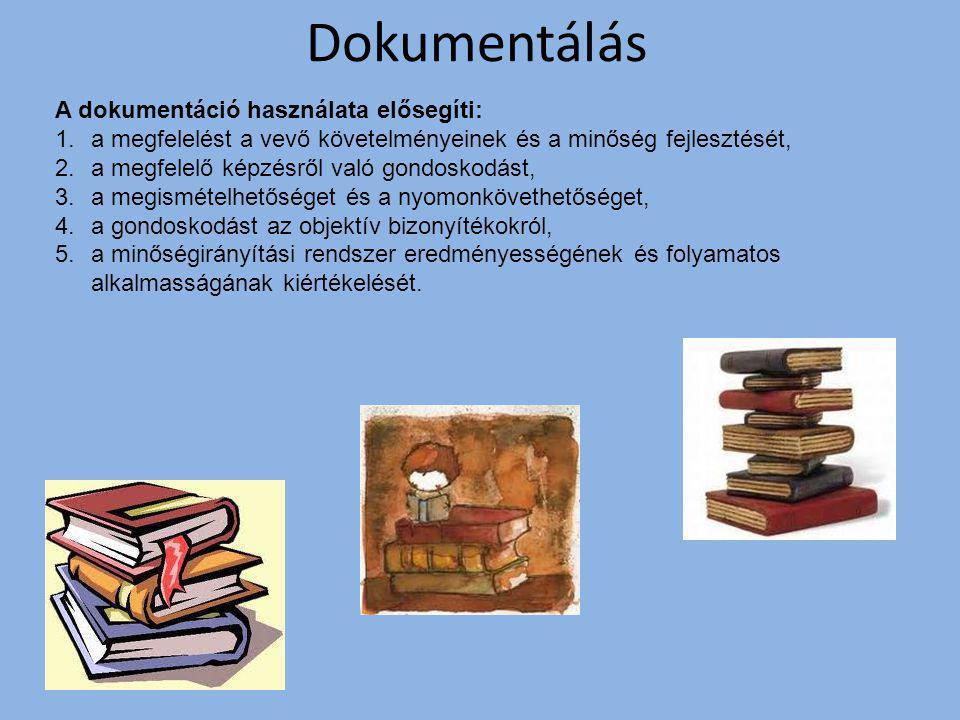 Dokumentálás A dokumentáció használata elősegíti: