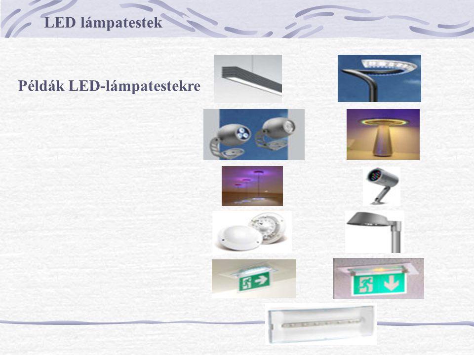 LED lámpatestek Példák LED-lámpatestekre