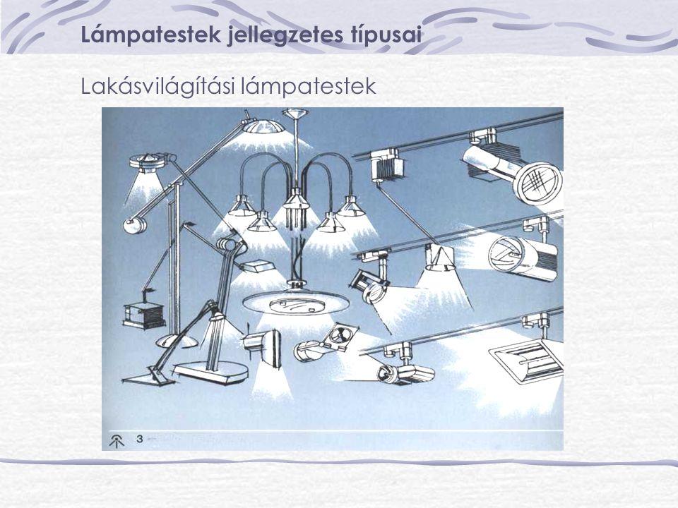 Lámpatestek jellegzetes típusai