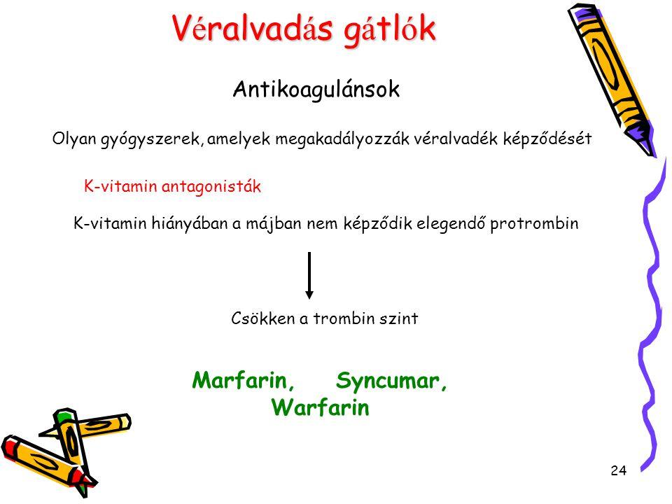 Marfarin, Syncumar, Warfarin