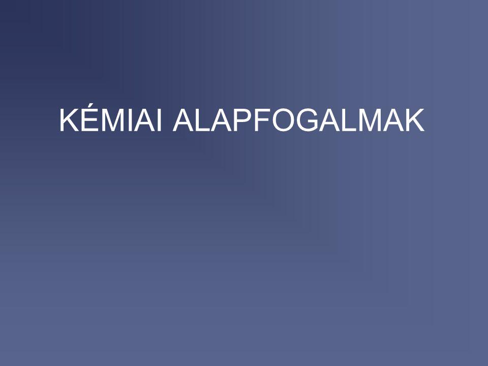 2017.04.04. KÉMIAI ALAPFOGALMAK
