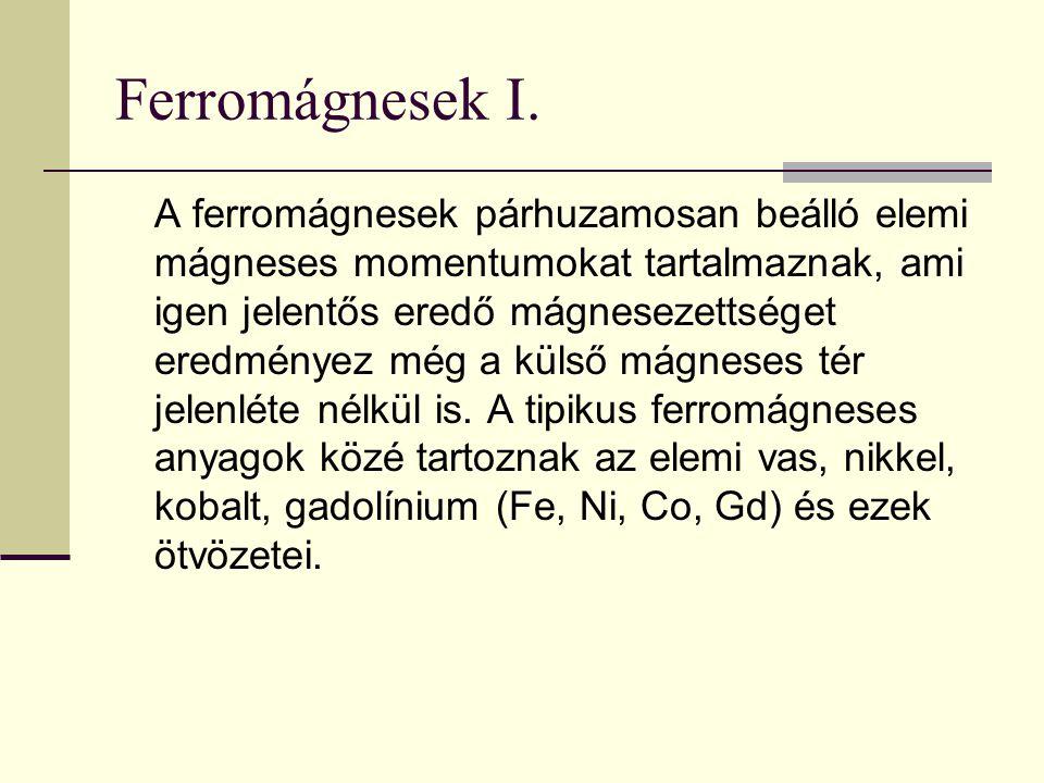 Ferromágnesek I.
