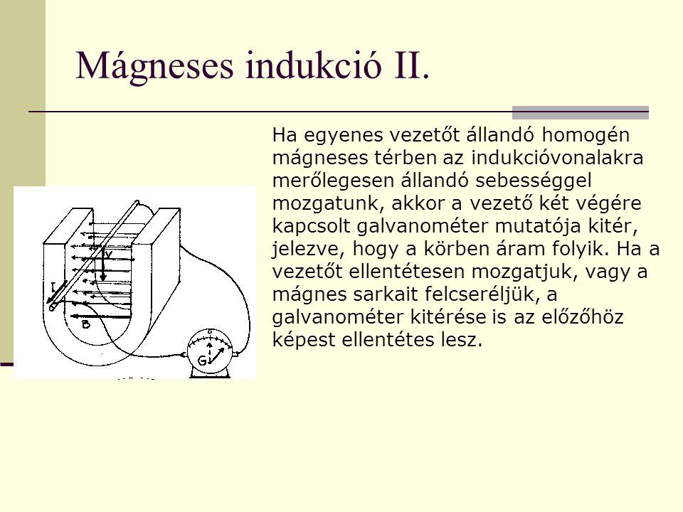 Mágneses indukció II.