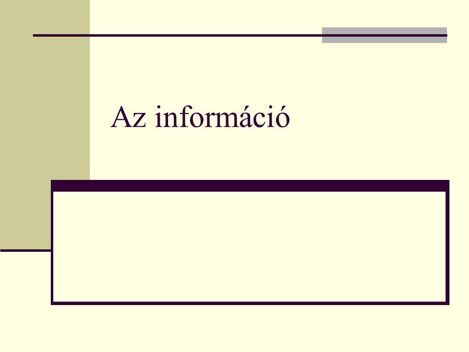 Az információ