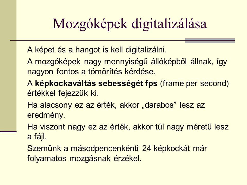Mozgóképek digitalizálása