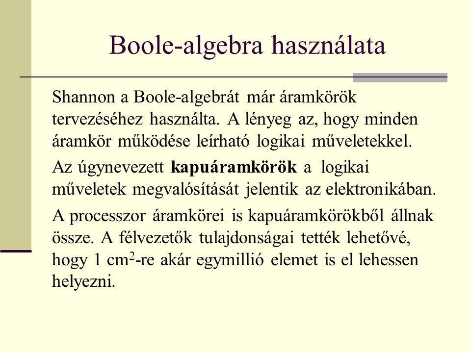 Boole-algebra használata