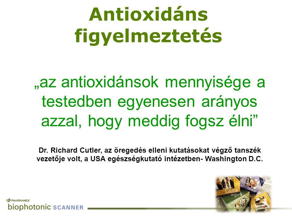 Antioxidáns figyelmeztetés