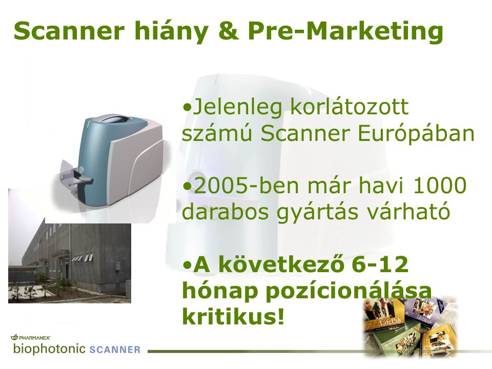 Scanner hiány & Pre-Marketing