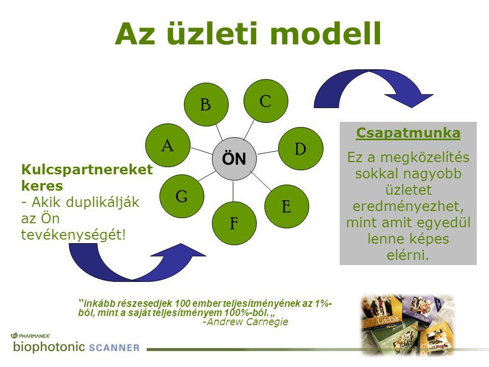 Az üzleti modell C. B. A. Csapatmunka. Ez a megközelítés sokkal nagyobb üzletet eredményezhet, mint amit egyedül lenne képes elérni.