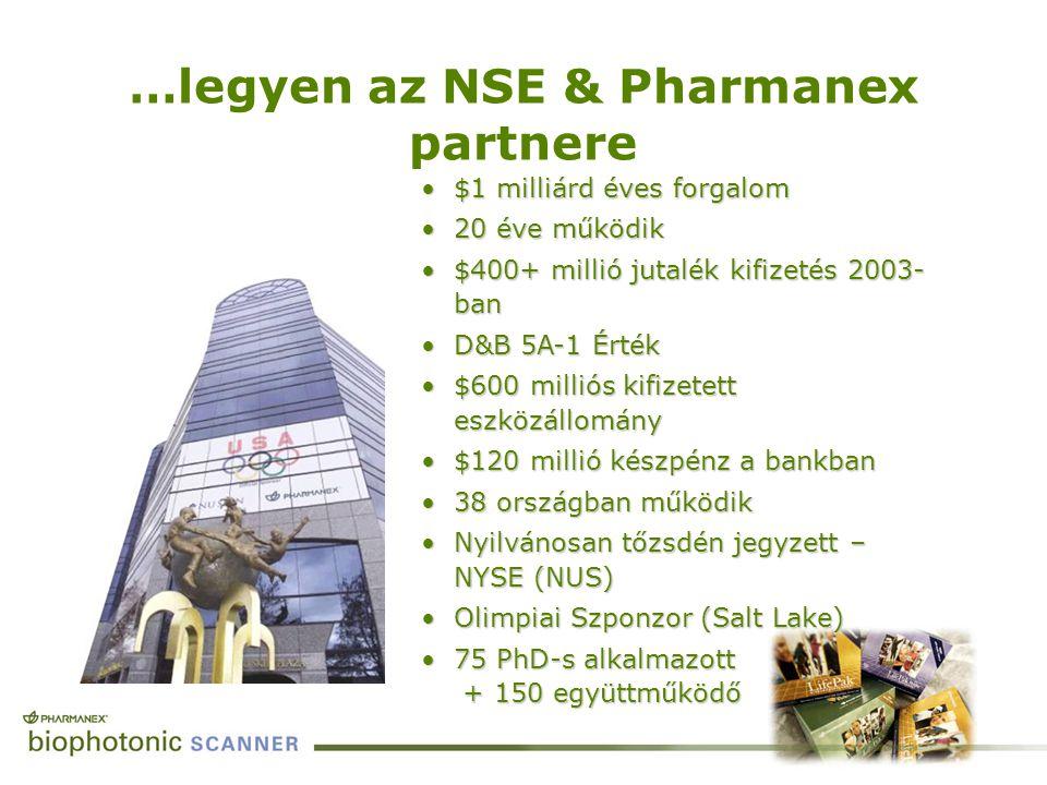 …legyen az NSE & Pharmanex partnere