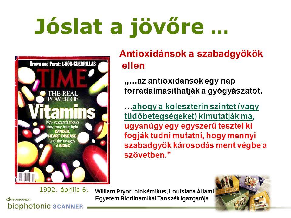 Jóslat a jövőre … Antioxidánsok a szabadgyökök ellen