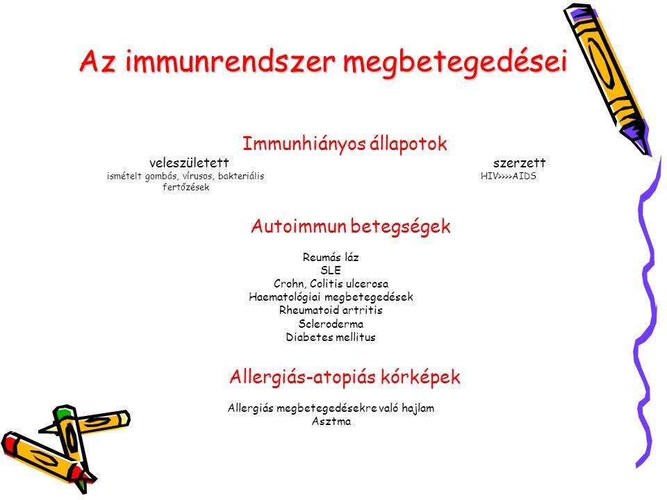 Az immunrendszer megbetegedései
