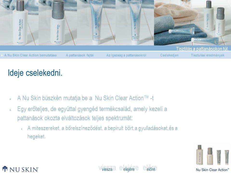 Ideje cselekedni. A Nu Skin büszkén mutatja be a Nu Skin Clear Action™ -t.