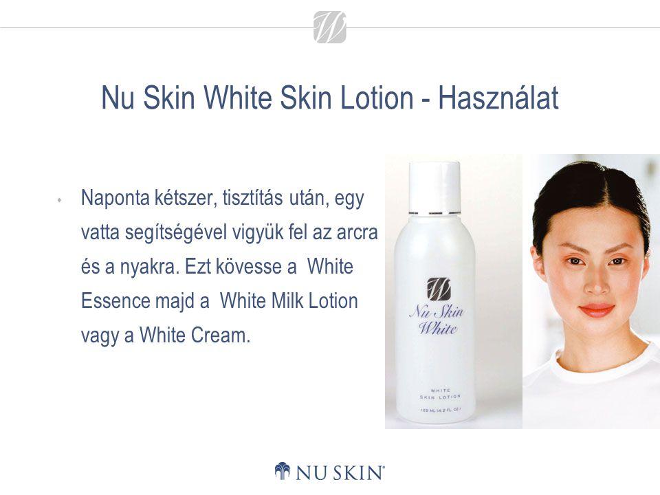 Nu Skin White Skin Lotion - Használat