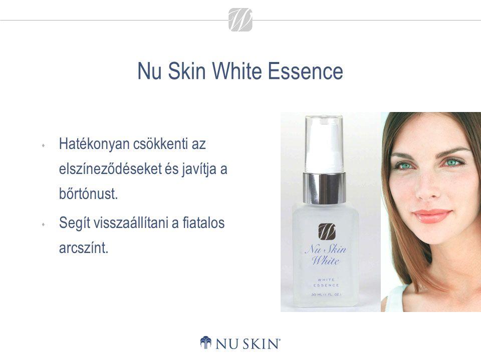 Nu Skin White Essence Hatékonyan csökkenti az elszíneződéseket és javítja a bőrtónust.