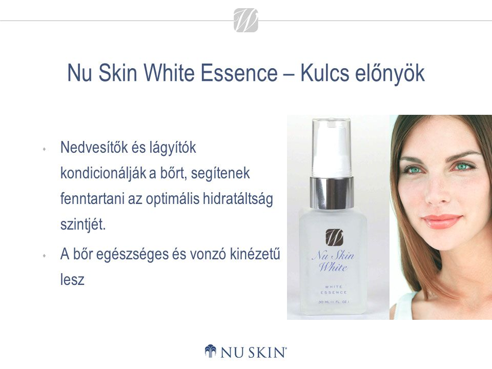 Nu Skin White Essence – Kulcs előnyök