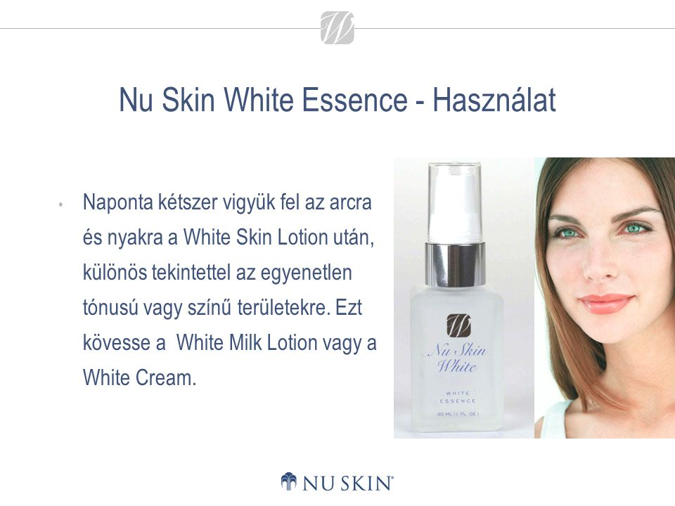 Nu Skin White Essence - Használat