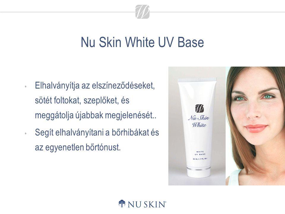 Nu Skin White UV Base Elhalványítja az elszíneződéseket, sötét foltokat, szeplőket, és meggátolja újabbak megjelenését..