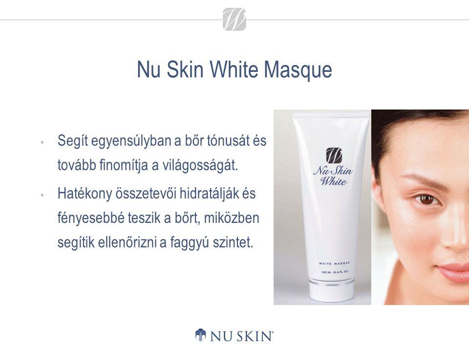 Nu Skin White Masque Segít egyensúlyban a bőr tónusát és tovább finomítja a világosságát.