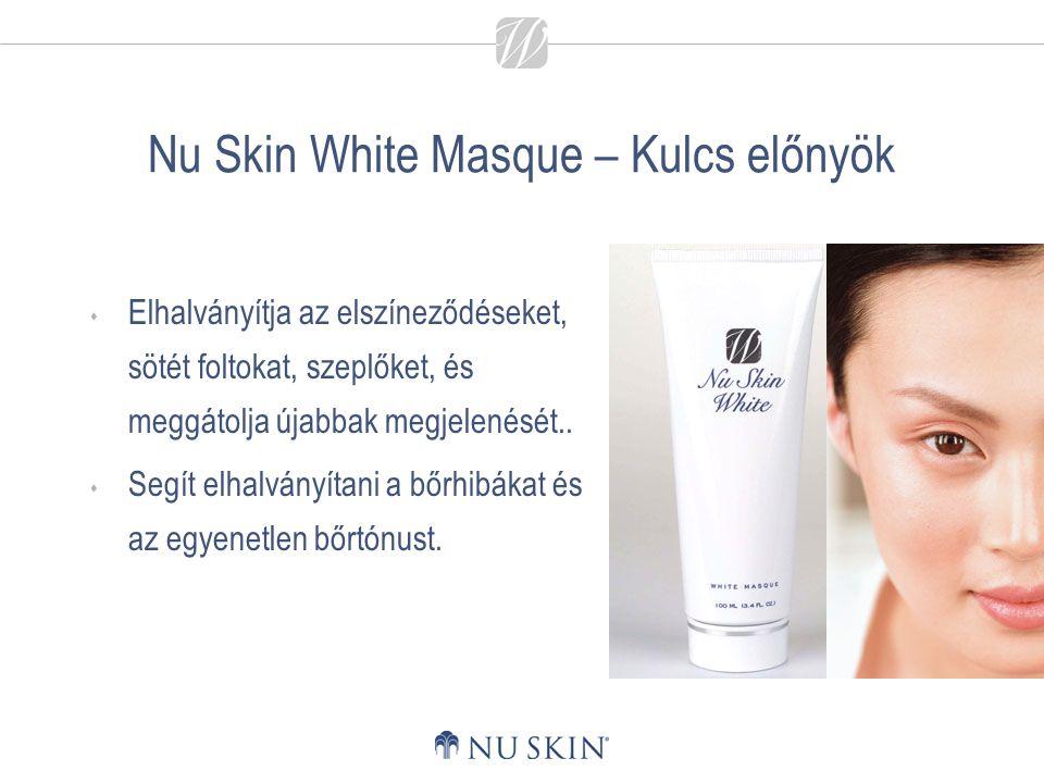 Nu Skin White Masque – Kulcs előnyök