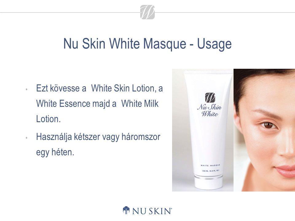 Nu Skin White Masque - Usage