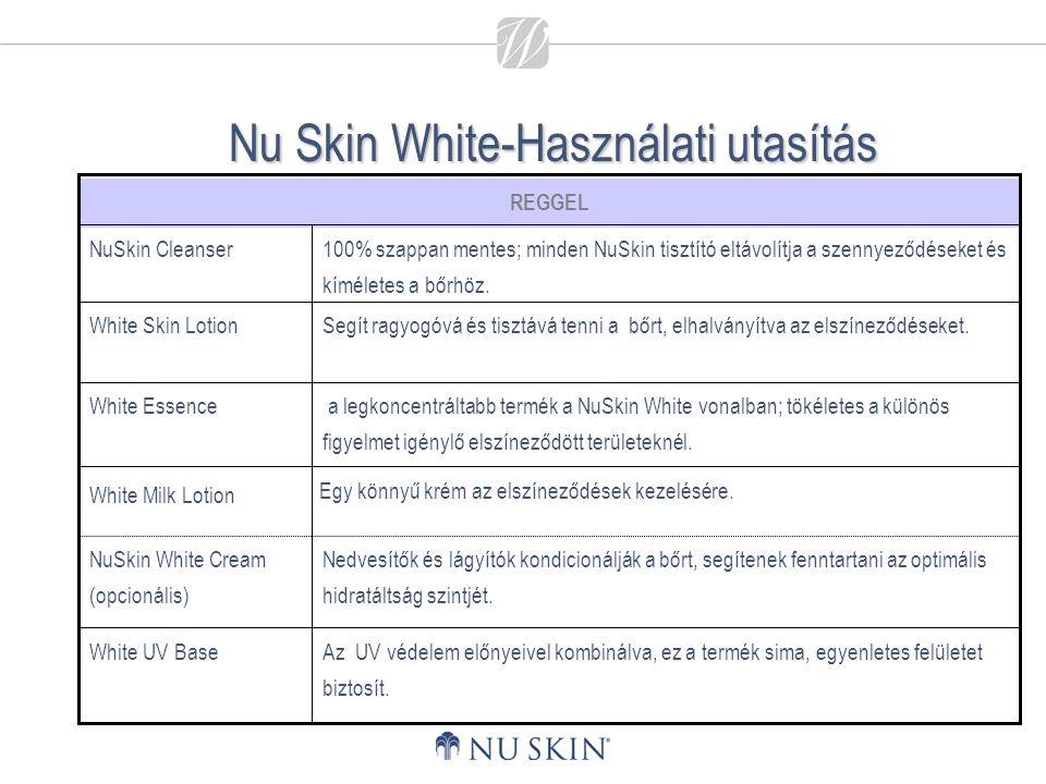Nu Skin White-Használati utasítás