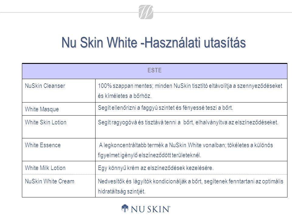 Nu Skin White -Használati utasítás