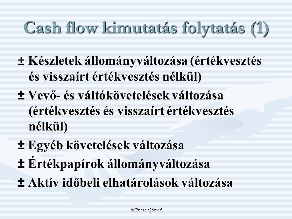 Cash flow kimutatás folytatás (1)