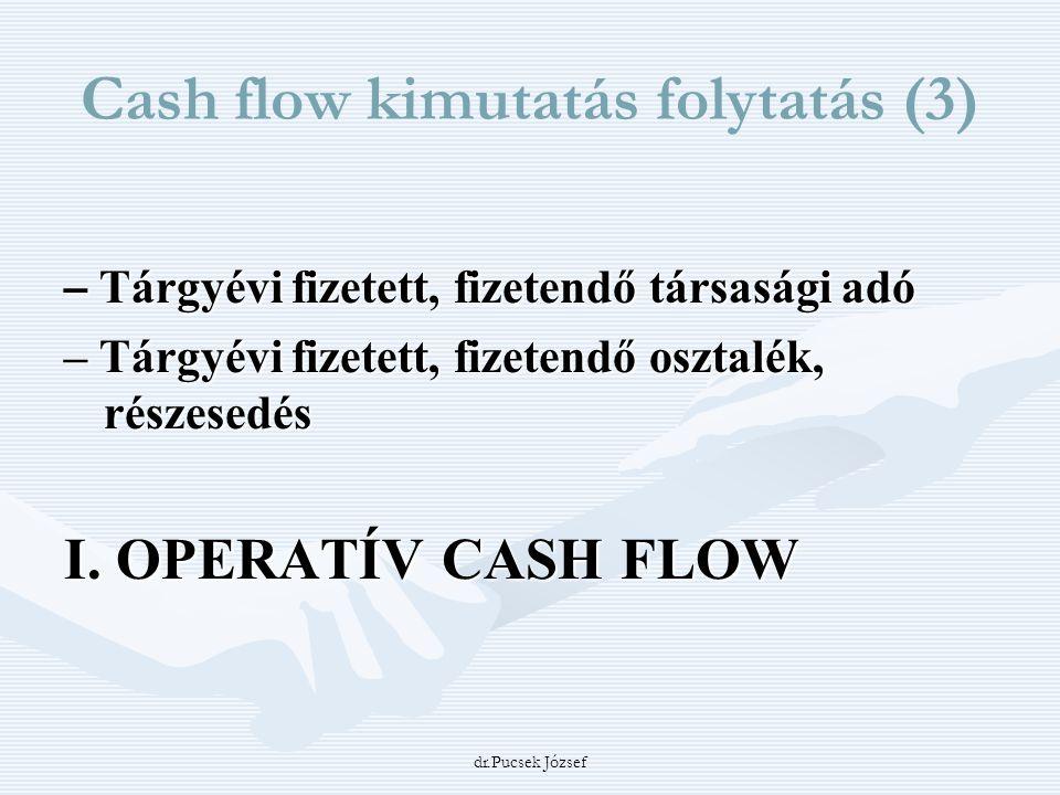 Cash flow kimutatás folytatás (3)