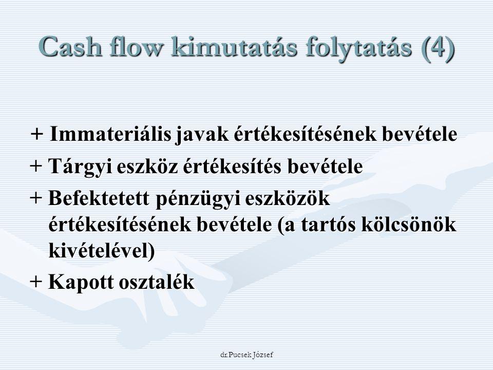 Cash flow kimutatás folytatás (4)