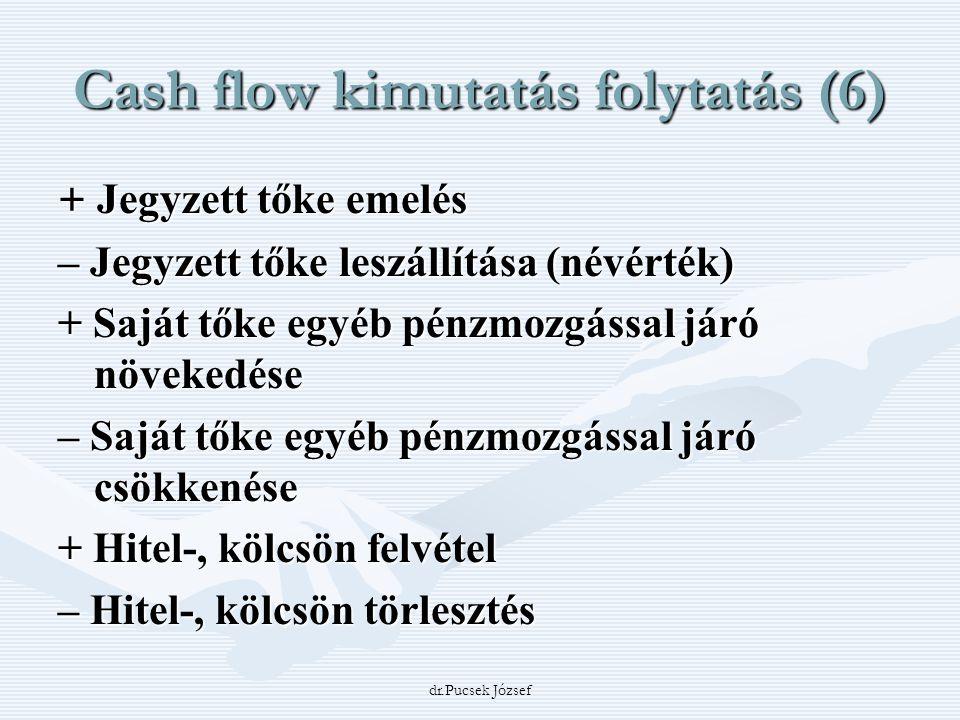 Cash flow kimutatás folytatás (6)