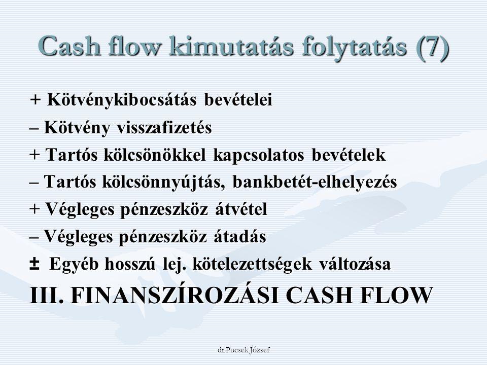 Cash flow kimutatás folytatás (7)
